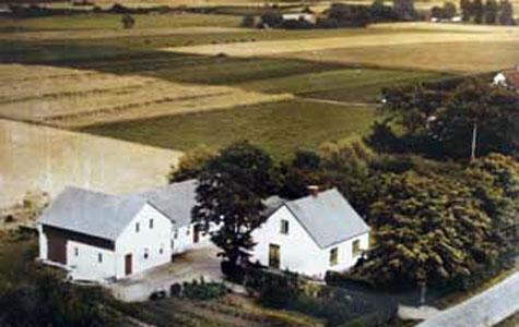 Billedet viser Håndværkerbyen før området bliver udstykket og udbygget med mindre håndværks- og industrivirksomheder i begyndelsen af 1960´erne. I forgrunden af billedet ses en mindre landejendom, hvor Greve Vandværk ligger i dag.Til højre i billedet kan man ane en anden landejendom, som var den ene af to statshusmandshuse bygget i begyndelsen af 1900-tallet. I baggrunden kan man ane Ågården, der også er blevet revet ned. En del af matriklerne på Håndværkervænget er udstykket fra Ågårdens jord og hører ind under grundejerforeningen Ågården i stedet for Håndværkerbyens grundejerforening. Ude på marken går parcellist Svend Åge Hansen, der ejede de to landejendomme.