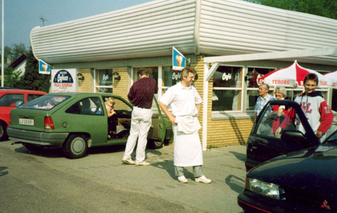 Håndværkercafeen var et populært spisested for Håndværkerbyens indbyggere.