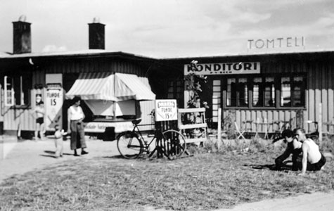 Konditoriet ved Tomteli teltlejr ca 1938