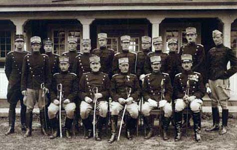 Her ses officerskorpset ved 14. Bataillon.