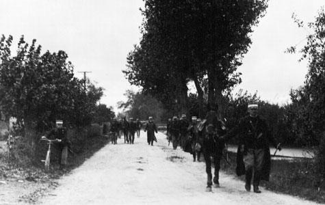 11. bataillon, 2. kompagni på march
