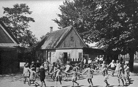 Frikvarter i Kildebrønde Gl. Skole ca 1930.