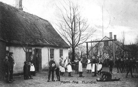 Frikvarter i Hundige Gl. Skole ca 1900.