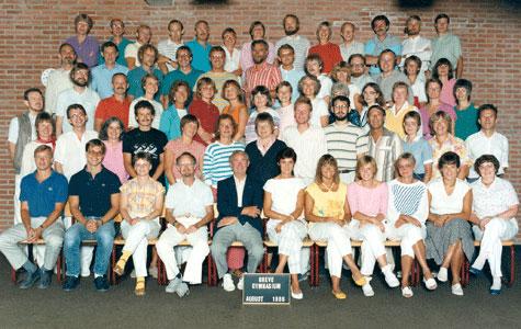 Lærerne på Greve Gymnasium 1986