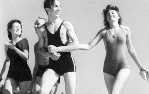 Dette fotografi fra Greve Strand blev bragt i dagbladet Sovialdemokraten i 1939