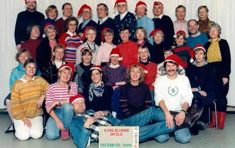 Lærerne på Karlslunde Skole 1989