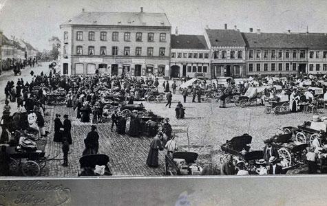 Torvehandel Køge ca 1905