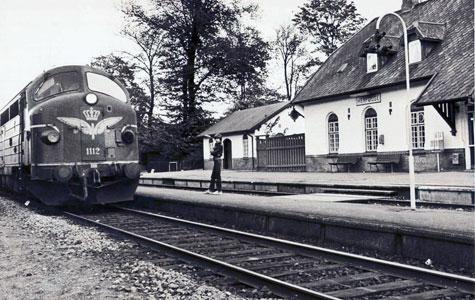 Tog ved Herfølge Station