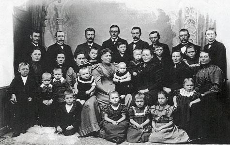 Købmand Hanne med familien