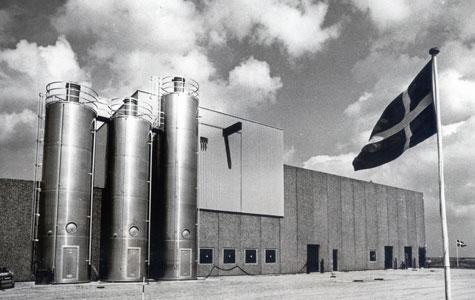 Fra Gummifabrikkens nye afdeling. Her blev den hvide stil ikke videreført. billedet er fra ca. 1980.