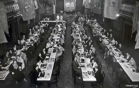 Fagforeningen Kvindeligt Arbejderforbund holder kongres i København i 1930'erne