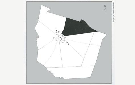 Landbrugsreformerne i 1700-tallets slutning betød at markerne blev udskiptet i stjerneform