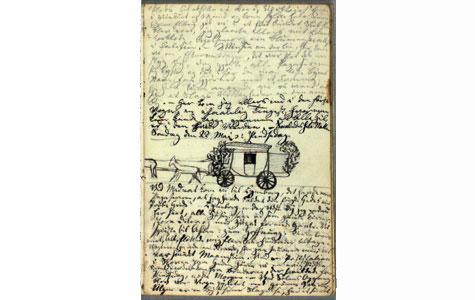 H.C.Andersens dagbogstegning