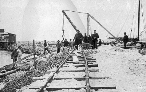 Søndre Havn i slutningen af 1800.