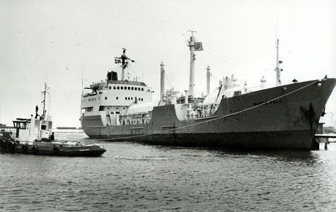 Marco Polo i Køge havn.