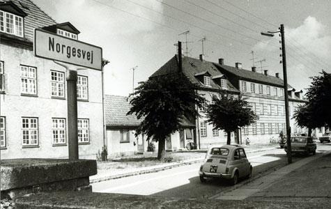 Værftsboliger på Codanvej - nuværende Norgesvej.