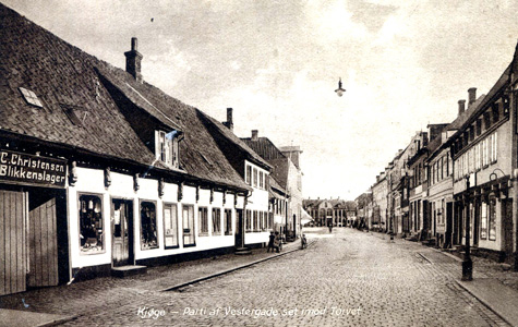 Vestergade - Panorama, set imod Torvet