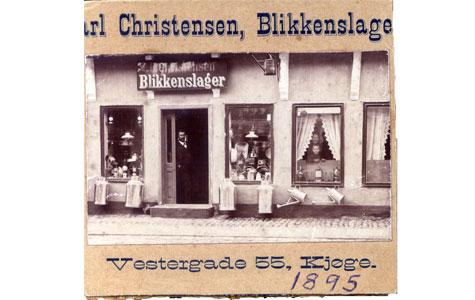 Vestergade 6 - Blikkenslagergården i 1895