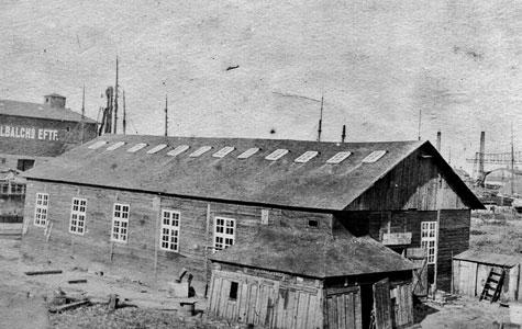 Larsens Værft på havnen i Køge - færdig ca 1907.