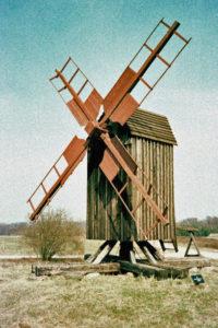 Karlstrup stubmølle på Frilandsmuseet i Kgs. Lyngby