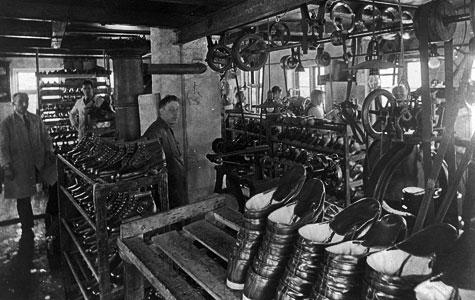Skotøjsfabrik, Havdrup i 1940.