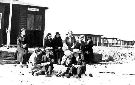 Sommerhusgæster, Solrød Strand, ca 1935