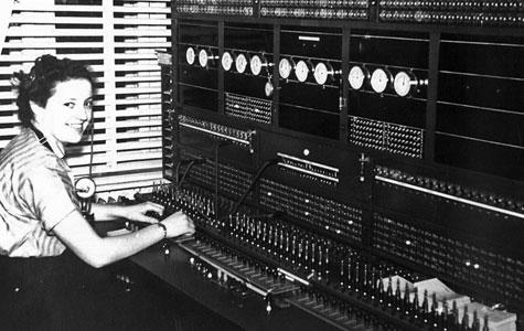Havdrup Telefoncentral 1954.