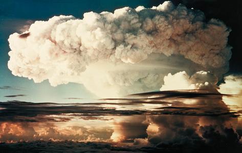 Såkaldt Paddehattesky fra en atomsprængning