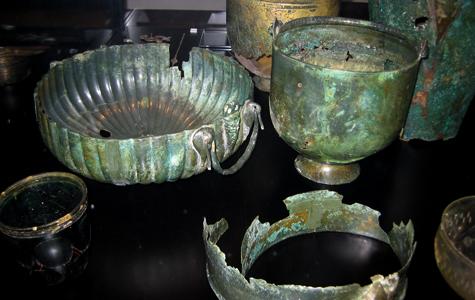 Bronzekar fra Romerriget fundet ved grusgravning 1949.