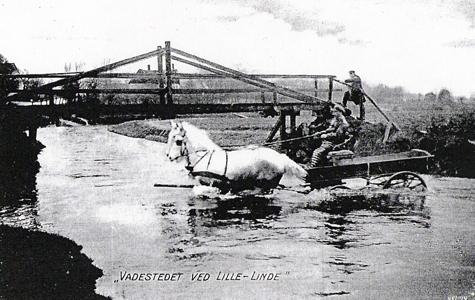 Vadestedet ved Lille Linde ca 1900.