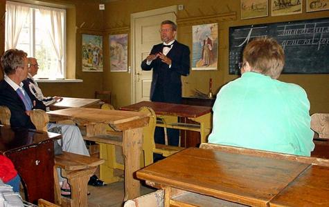 Den genindrettede skolestue i Rytterskolen i Lille Heddinge.