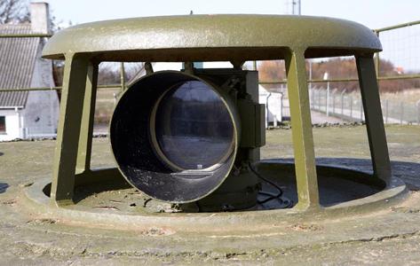 Fortets øje - Fra denne udsigtspost, kaldet ildleder-post, kunne man holde øje med slagets gang.