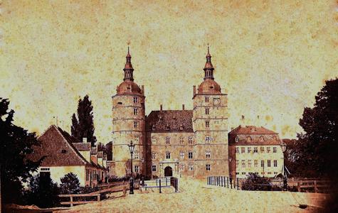 Vallø Slot i 1880'erne.