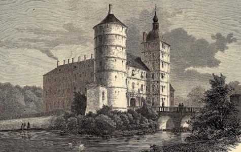 Vallø Slot i begyndelsen af 1800-tallet.