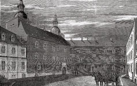 Vallø Slot i 1870.